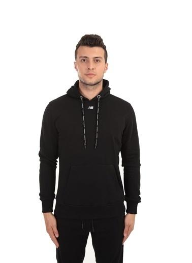 New Balance Erkek Kapüsonlu Sweatshirt MPH023-BK Renkli